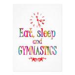 Eat, Sleep Gymnastics Personalized Announcement