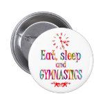Eat, Sleep Gymnastics Pin