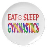 Eat Sleep Gymnastics Plates