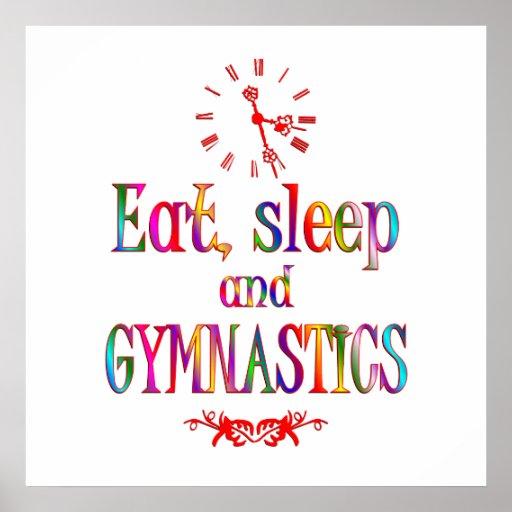 Eat, Sleep Gymnastics Poster