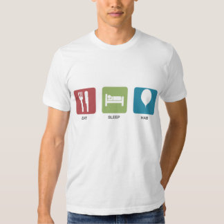 Eat-Sleep-HAB Colour Design T-shirt