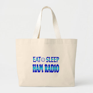 Eat Sleep Ham Radio Canvas Bags