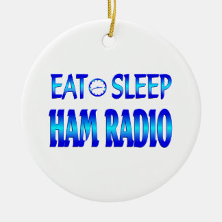Eat Sleep Ham Radio Christmas Ornament