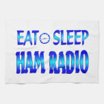 Eat Sleep Ham Radio Kitchen Towels