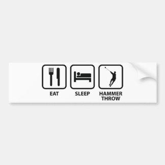 Eat Sleep Hammer Throw Bumper Sticker