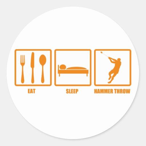 Eat Sleep Hammer Throw Classic Round Sticker