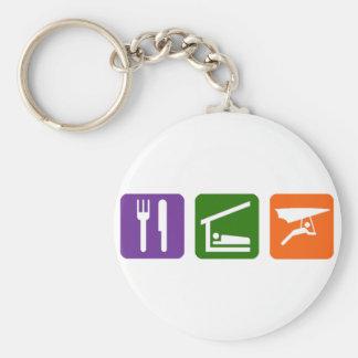 Eat Sleep Handgliding Basic Round Button Keychain