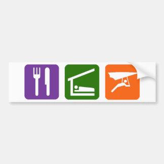 Eat Sleep Handgliding Bumper Stickers
