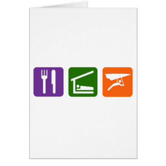 Eat Sleep Handgliding Greeting Card