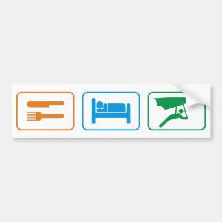 eat sleep -hang glide bumper sticker