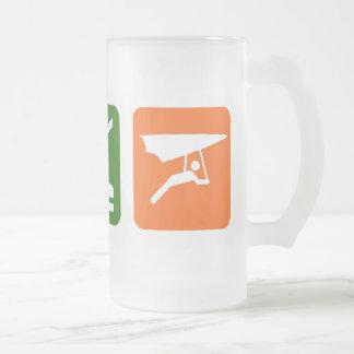 Eat Sleep Hang gliding Frosted Glass Beer Mug