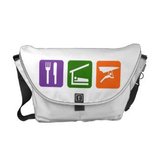 Eat Sleep Hang Gliding Messenger Bag
