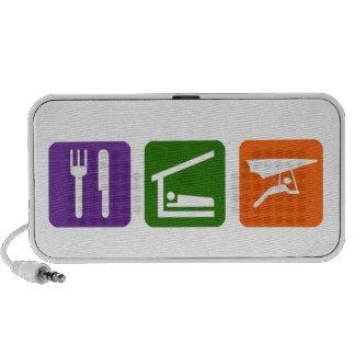 Eat Sleep Hang gliding Notebook Speakers