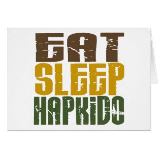 Eat Sleep Hapkido 1 Card