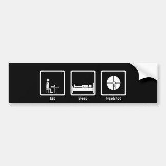 Eat, Sleep, Headshot - FPS Gamer Bumper Sticker