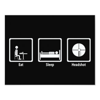 Eat, Sleep, Headshot - FPS Gamer Card