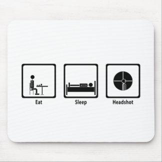 Eat, Sleep, Headshot - FPS Gamer Mouse Pad