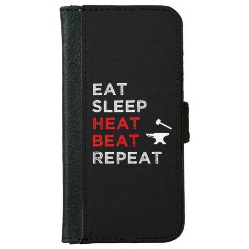 Eat Sleep Heat Beat Repeat iPhone 6/6s Wallet Case