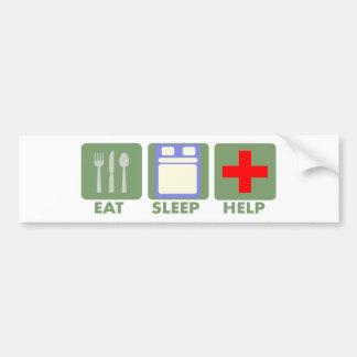 EAT SLEEP HELP LIFESTYLE BUMPER STICKER