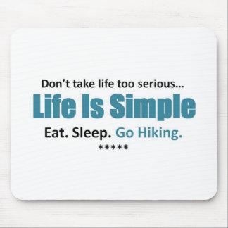 Eat, Sleep, Hiking Mousepads