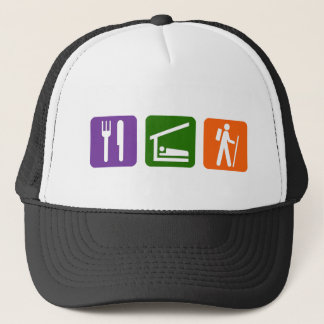 Eat Sleep Hiking Trucker Hat