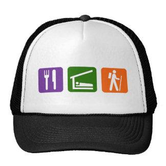 Eat Sleep Hiking Trucker Hat