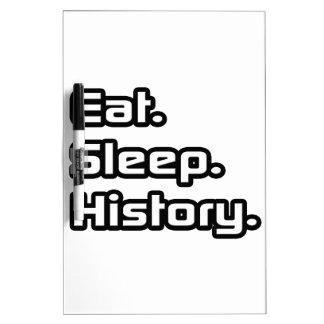 Eat. Sleep. History. Dry-Erase Whiteboards