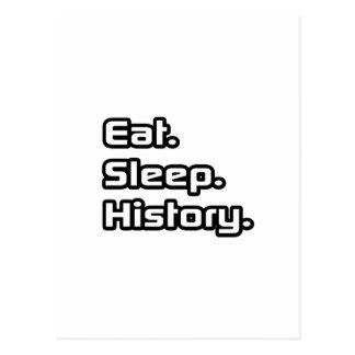 Eat. Sleep. History. Postcard