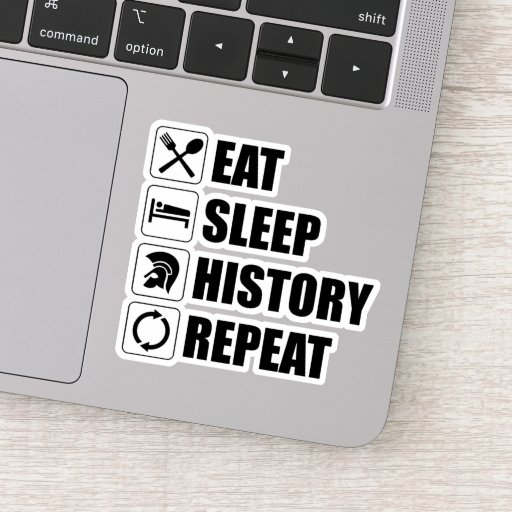 Eat Sleep History Repeat Sticker