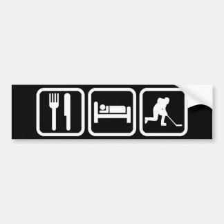 Eat Sleep Hockey Bumper Sticker