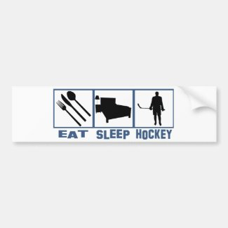 Eat Sleep Hockey Bumper Sticker