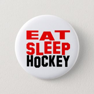Eat Sleep Hockey Button
