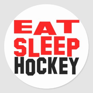Eat Sleep Hockey Classic Round Sticker
