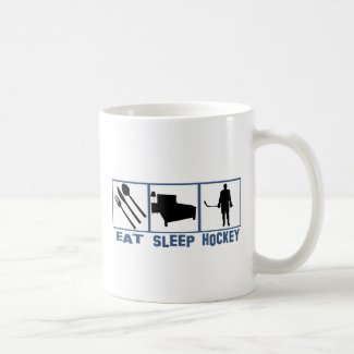 Eat Sleep Hockey Coffee Mug