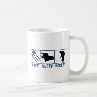 Eat Sleep Hockey Image Player With Puck Coffee Mug