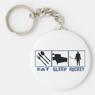 Eat Sleep Hockey Keychain