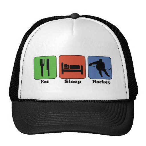 Eat Sleep Hockey Mesh Hats