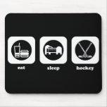 Eat. Sleep. Hockey. Mousepad