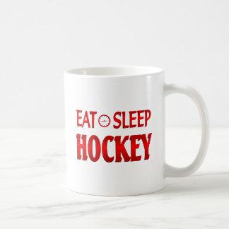 Eat Sleep Hockey Coffee Mugs
