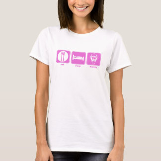 eat sleep hockey pink T-Shirt