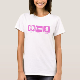 eat sleep hockey player pink T-Shirt