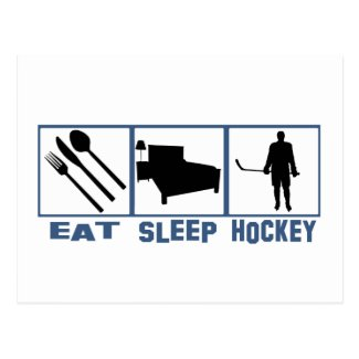 Eat Sleep Hockey Postcard