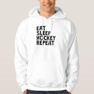 Eat Sleep Hockey Repeat Hooded Sweatshirt