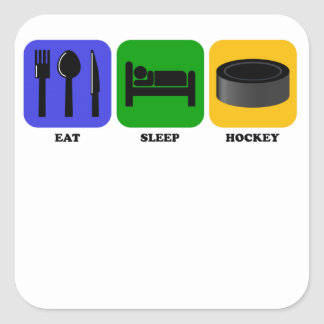 Eat Sleep Hockey Square Sticker