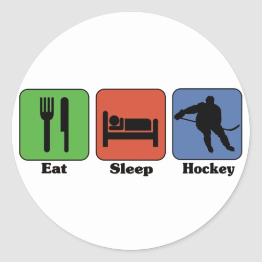 Eat Sleep Hockey stickers