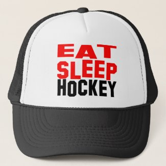 Eat Sleep Hockey Trucker Hat