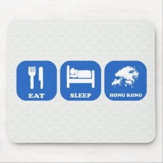 Eat Sleep Hong Kong Mousepads