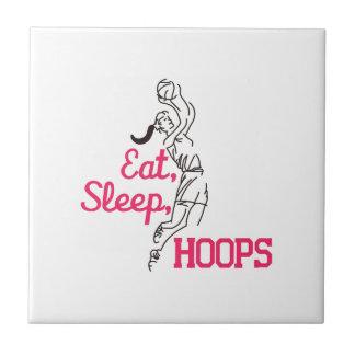 Eat, Sleep, Hoops Tile