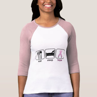 Eat Sleep Hope - Breast Cancer T-Shirt
