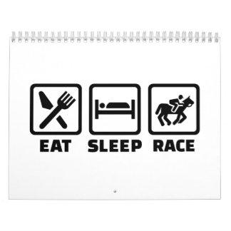 Eat sleep Horse race Calendar